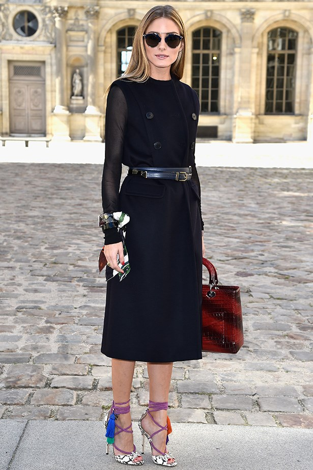 Olivia Palermo<br> Wearing: Dior and Jimmy Choo <br> Where: Paris