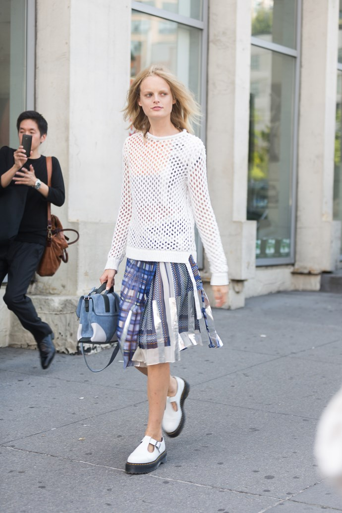 <strong>Coolest model: Hanne Gaby Odiele </strong><br> Where: New York Fashion Week