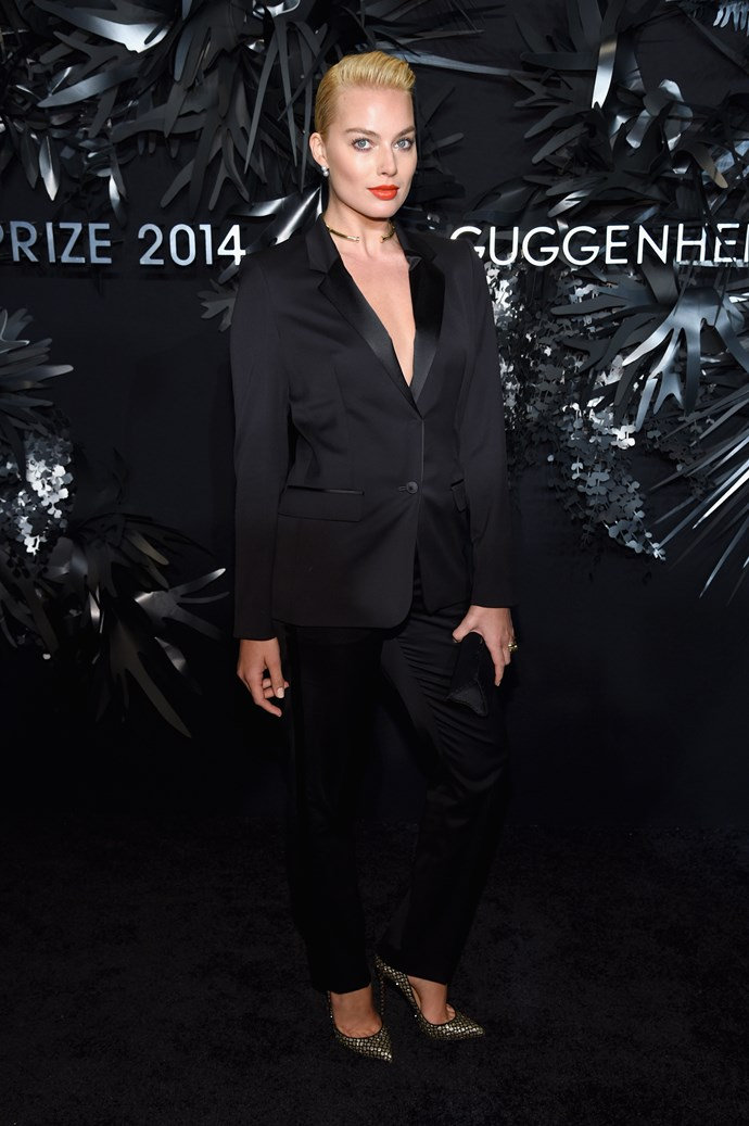 <strong>Most daring: Margot Robbie </strong><br> Wearing: Hugo Boss <br> Where: Hugo Boss Prize 2014 <br>