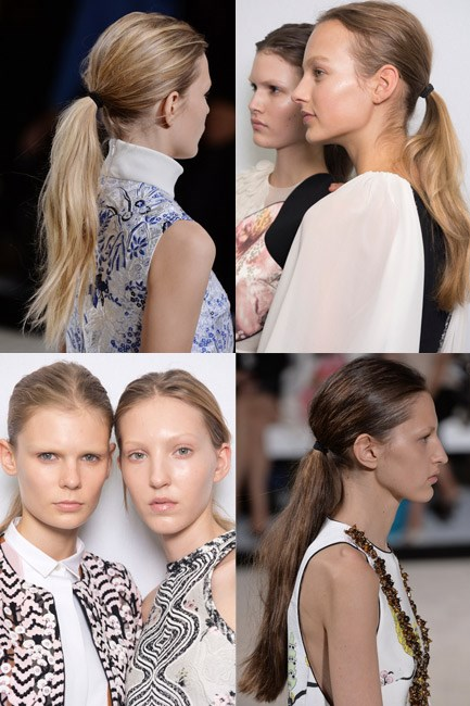 <strong>The Minimalist Master</strong><br><br> Do your pony <em>sans</em> hairbrush – using your fingers only – to get an 'I woke up like this' look or <em>literally</em> sleep in it, get up and go.<br><br> <em>Runway muse: Giambattista Valli</em>