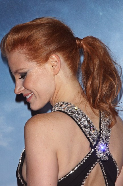 <strong>The Wrap-er</strong><br><br> With the rest of the ponytail a hot mess (so to speak) a single chunk of hair wrapped around the elastic adds an unexpected polished finishing touch.<br><br> <em>Celebrity muse: Jessica Chastain</em>