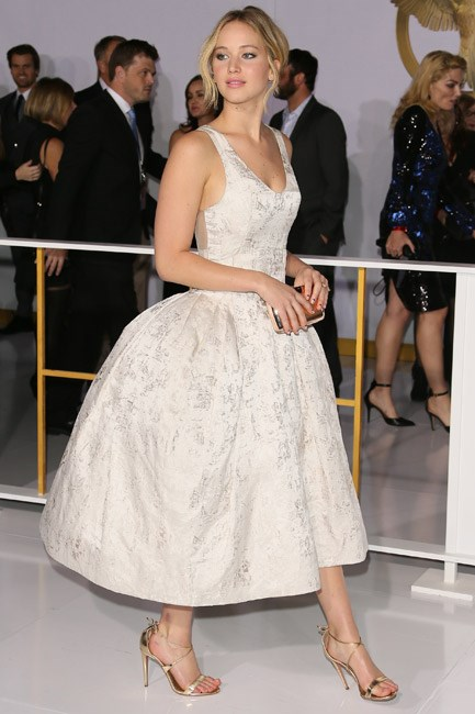<strong>Jennifer Lawrence</strong><br><br> <strong>FROU-FROU: </strong>Volumous and dramatic in Dior.