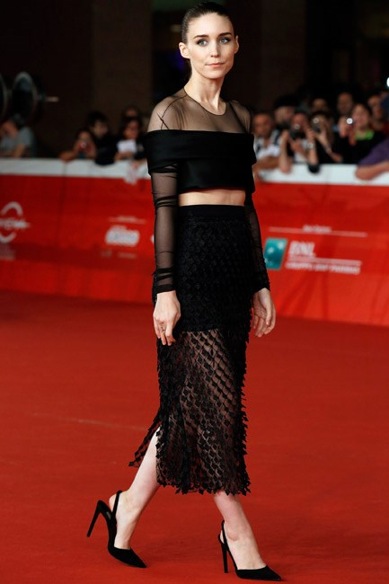 <strong>Rooney Mara</strong><br><br> GOTHIC: Working some dark magic in Balenciaga.