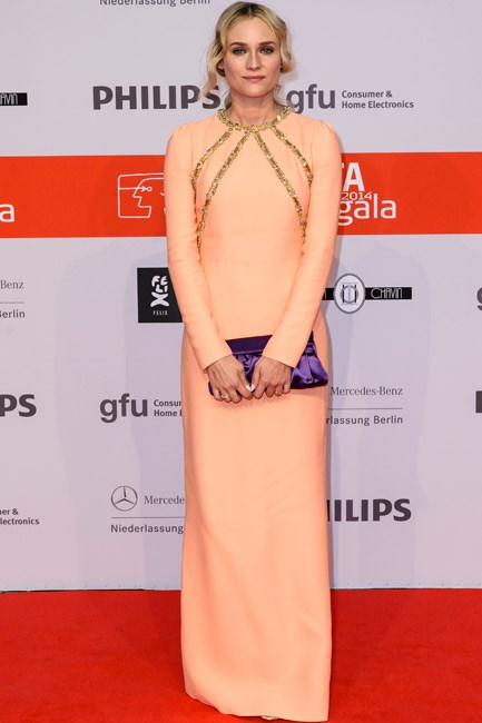 <strong>Diane Kruger</strong><br><br> <strong>DEMURE:</strong> Covered up and oh-so sweet in Prada.