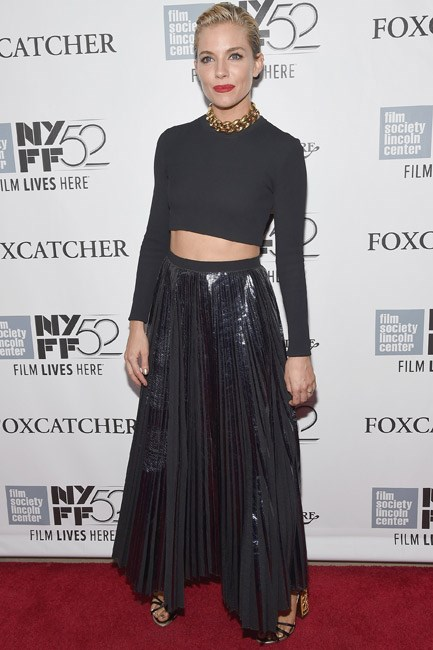 <strong>Sienna Miller</strong><br><br> <strong>BOHO:</strong> Looking the part of an haute hippie in floaty separates.