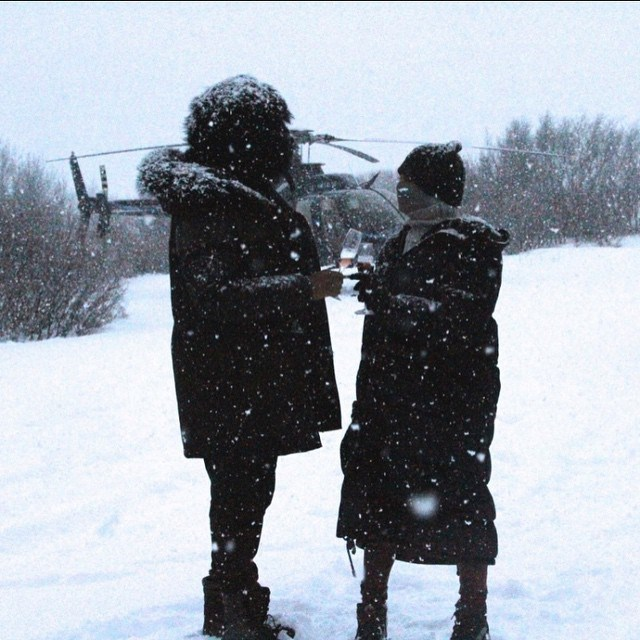 <strong>Beyonce and Jay Z</strong><br> Rather than chilling out with the family over Christmas, Queen B, Jay Z  and Blue Ivy escaped to the romantic hot springs and winter wonderland vibes of Iceland. After frolicking in the snow and a private helicopter ride, Bey & Jay shared champagne, made snow angels, toured waterfalls and cuddled up in the hot springs. <br><br> Instagram: @beyonce