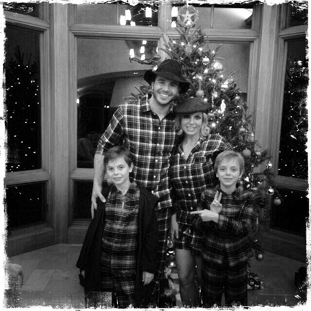 <strong>Britney Spears</strong><br> For her family Christmas, Britney, her two sons (who are really big now, btw)  and her new man, Charlie Ebersol, forwent Santa hats and just reached for the cowboy plaid. You can take the girl out of the south… <br><br> Instagram: @britneyspears