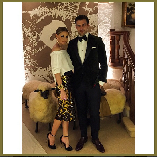 @oliviapalermo and husband Johannes Huebl looked as chic as ever at Valentino's NYE party in Gstaad