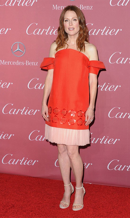 Julianne Moore chose to support emerging Spanish label Delpozo