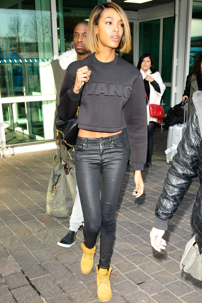 <strong>Jourdan Dunn</strong> <br> Have fun with a statement sweater.
