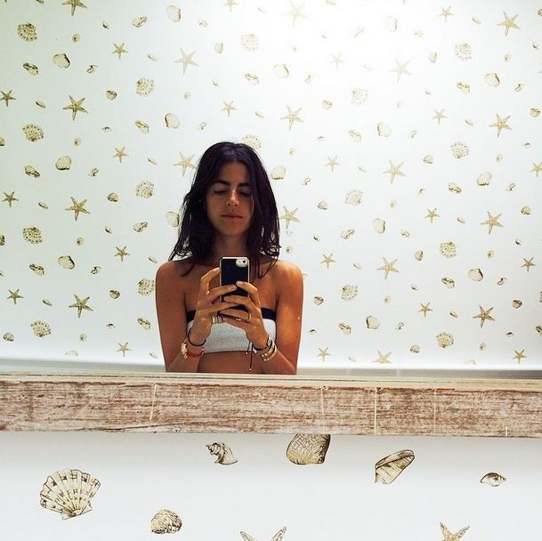 """<strong>Leandra Medine of The Man Repeller</strong> <br><em>Un Jardin Sur Le Nil</em> by Hermes <br><br><em>Related: <a href=""""http://www.elle.com.au/news/celebrity-news/2014/10/celebrity-office-inspo/celebrity-office-inspo-image-7/"""">Inside Leandra Medine's stylish office</a></em>"""
