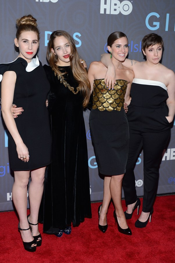 <em>Girls </em>who dress together... At the season two premiere, days before the show picked up a Golden Globe for best television comedy. Dunham also took out best actress.