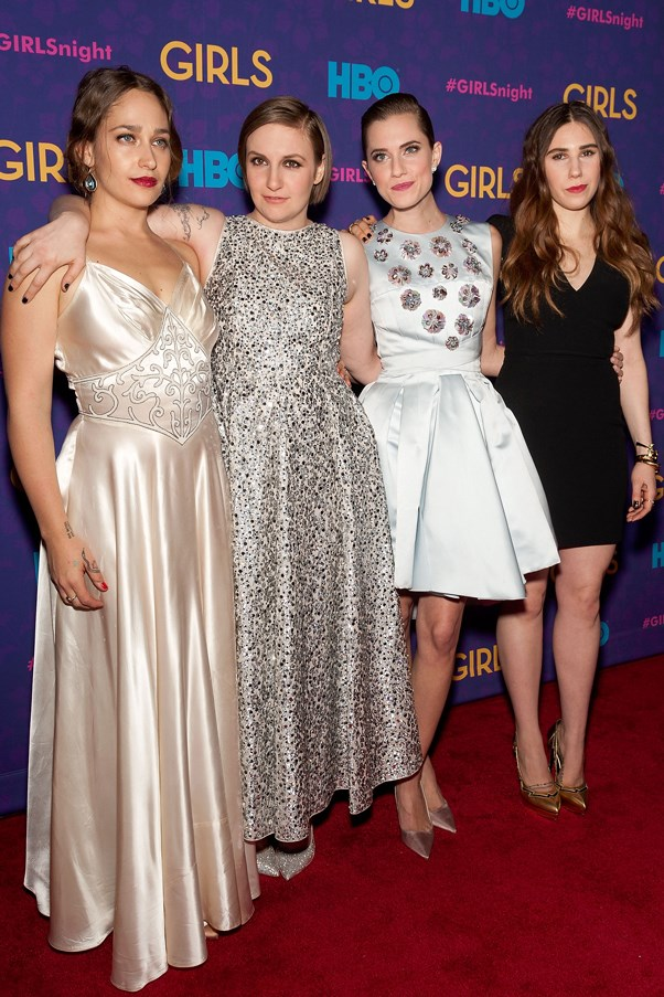 The season three premiere in 2014 saw a swag of fashion heavyweights being repped: while Kirke wore a vintage gown, Dunham donned Rochas, Williams Christian Dior and Mamet wore Saint Laurent.