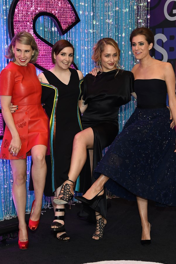 The Girls all channelled a more sexed-up aesthetic for the season four premiere, which just took place at the American Museuem Of Natural History in New York. Mamet is in Alexander McQueen, Dunham in Creatures Of The Wind, Kirke in Adam Lippes and Williams in Monique Lhuillier.