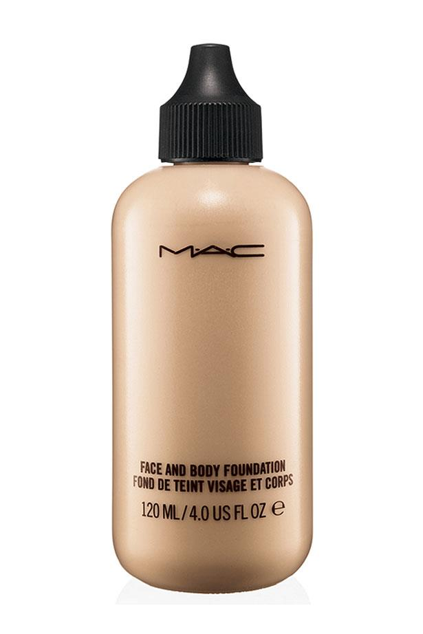 """<p><strong>Base</strong></p> <p>A sheer foundation evens skin tone without looking cakey. </p> <p><em>Face and Body Foundation, $49 for 50ml, M.A.C Cosmetics, <a href=""""http://www.maccosmetics.com.au"""">maccosmetics.com.au</a></em></p>"""