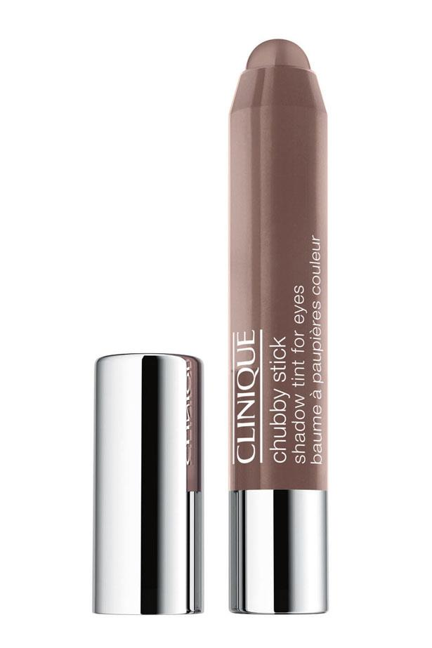 """<p><strong>Eyeshadow</strong></p> <p>Run a shadow along the eye lid and lower lash line, and blend out with fingertips. </p> <p><em>Chubby Stick Shadow Tint for Eyes in Fuller Fudge, $35, Clinique, <a href=""""http://www.clinique.com.au/"""">clinique.com.au </a></em></p>"""
