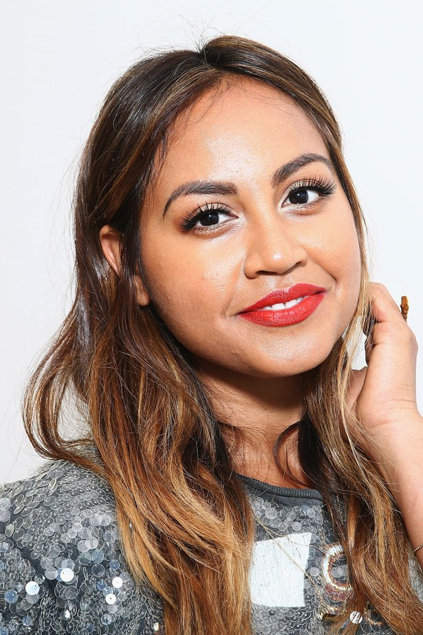 In October 2014 the star wore the classic combination of a red lip and black fluttery lashes.