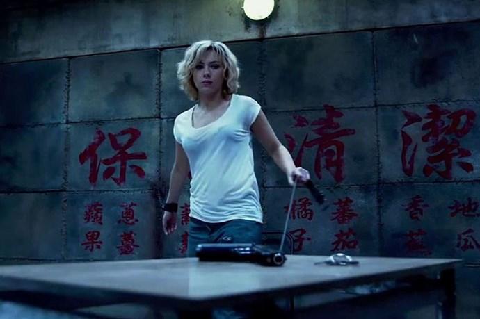 Scarlett Johansson in <em>Lucy</em>. Okay, the movie wasn't so great, but Johansson was stellar.