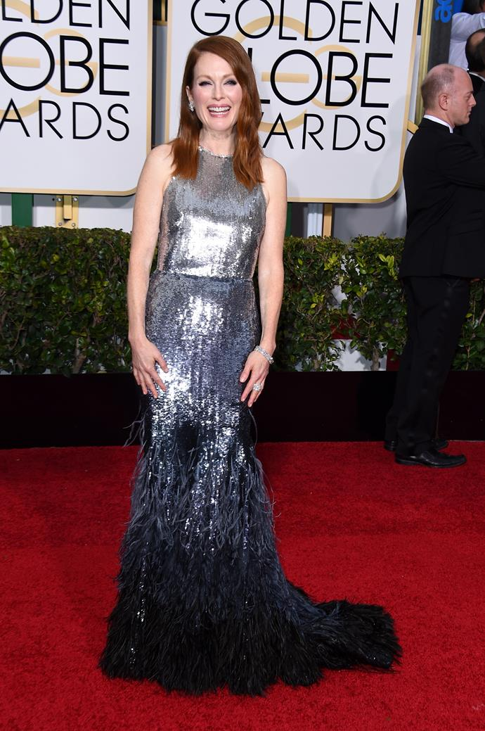 Julianne Moore wearing Givenchy Haute Couture and Chopard jewellery