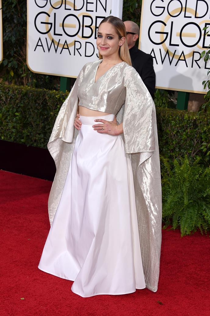 Jemima Kirke wearing Rosie Assoulin