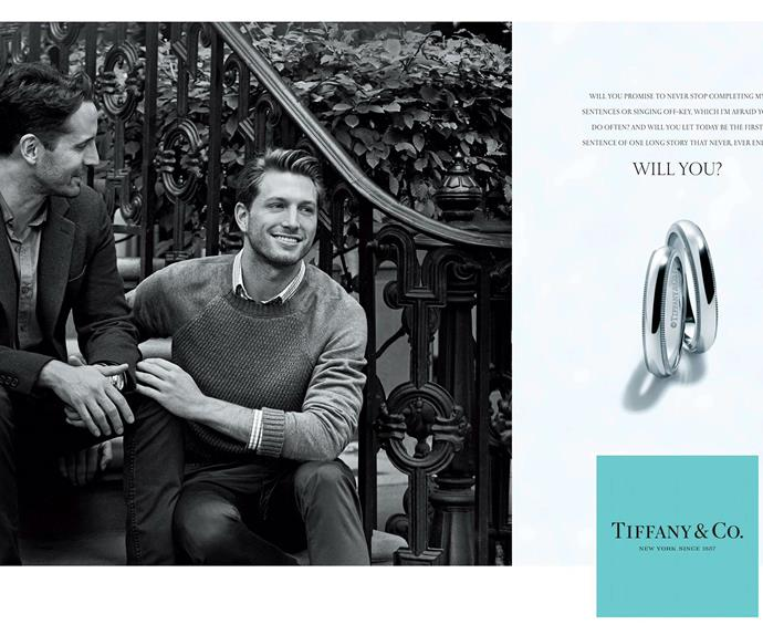 The same-sex Tiffany & Co. ad campaign, shot by Peter Lindbergh