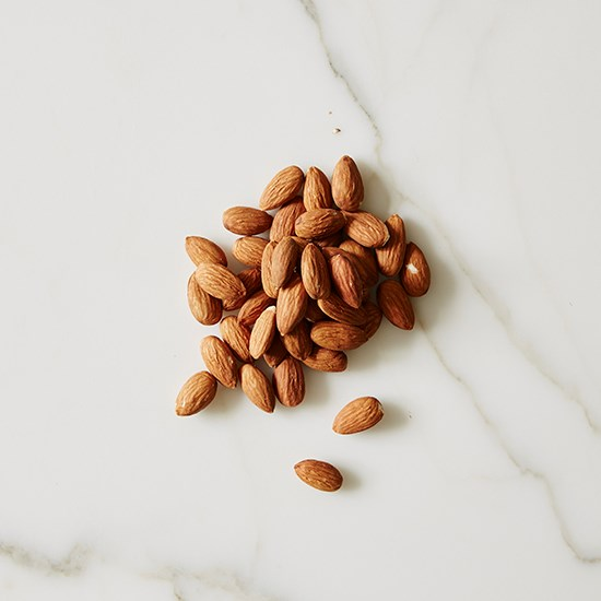Almonds to munch on.