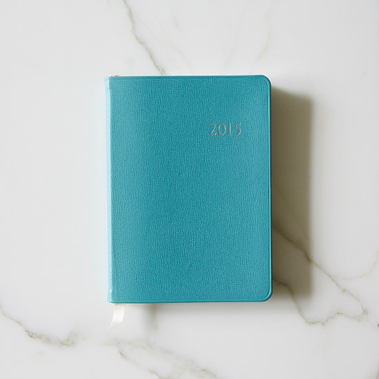 "A diary to keep me organised. <a href=""http://www.tiffany.com.au/Shopping/Item.aspx?fromGrid=1&sku=GRP08106&mcat=&cid=660754&search_params=p+1-n+10000-c+660754-s+-r+-t+-ni+1-x+-lr+-hr+-ri+-mi+-pp+600+4&search=0&origin=browse&searchkeyword="">Leather desk diary, $175, Tiffany & Co., tiffany.com.au </a>"