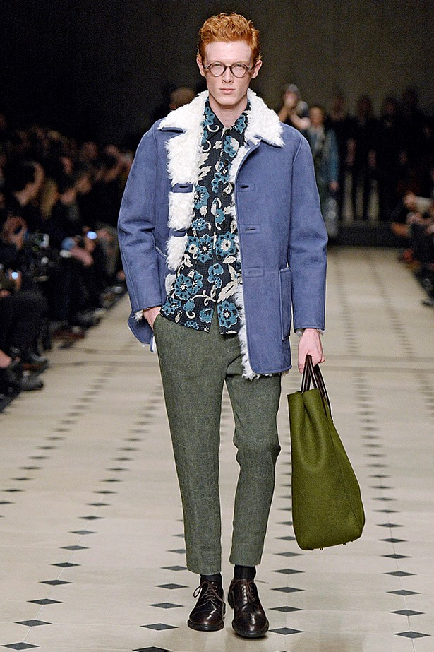 Shearling: it's the texture du jour on coats, collars and accessories. Seen here at <em>Burberry aw15</em>