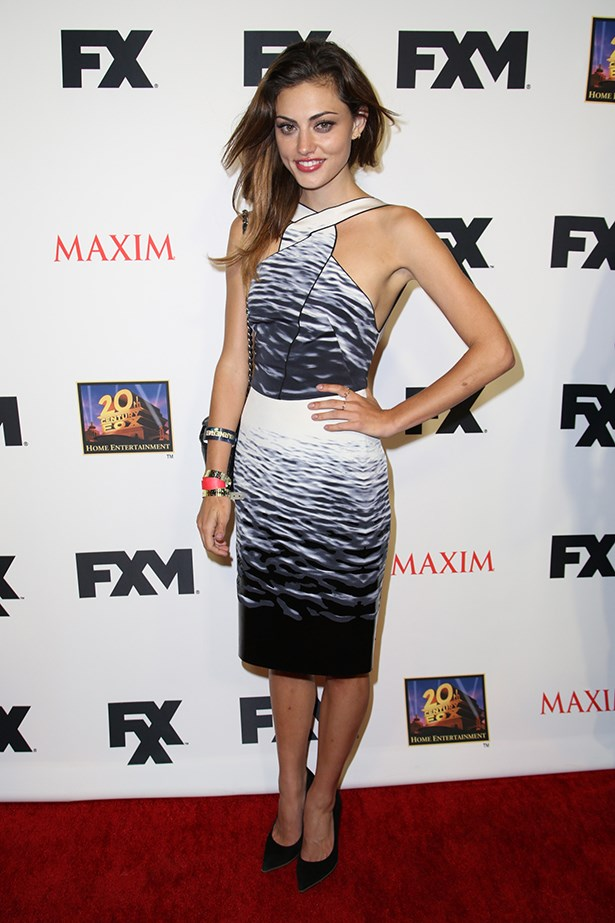 Phoebe Tonkin at the Maxim, FX and Fox Home Entertainment Comic-Con Party 2013 wearing Dion Lee.