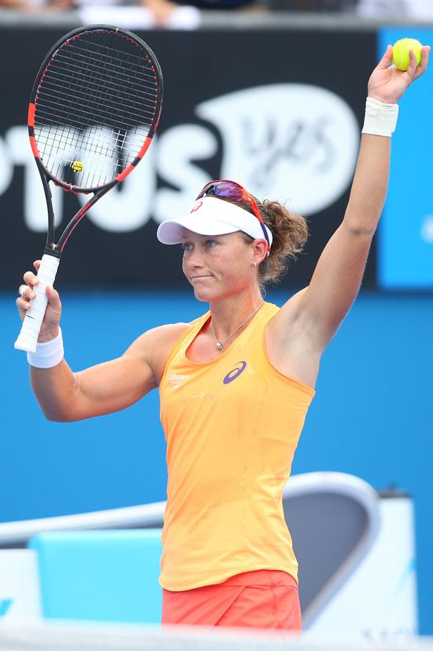 Samantha Stosur wears Australian household name ASICS to compete.