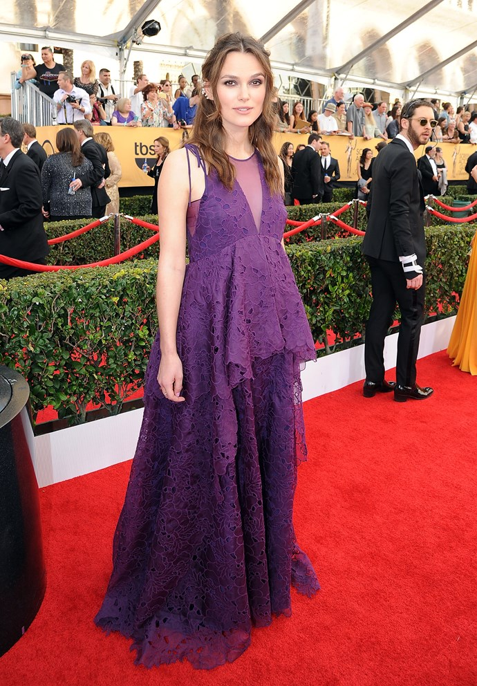 Keira Knightly on the red carpet