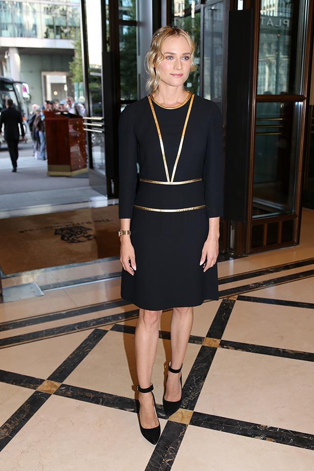 Diane Kruger wearing Prada at the Reopening of the Boulevard of Stars, September 2014.