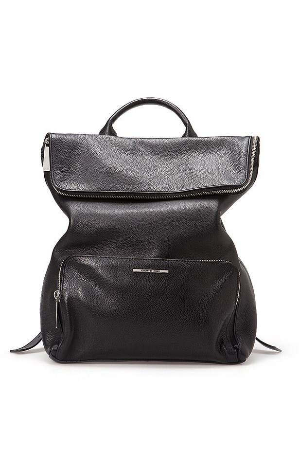 "Backpack, $299, Country Road, <a href=""http://www.countryroad.com.au/shop/woman/accessories/handbags/lucinda-backpack-60166118"">countryroad.com.au</a>"