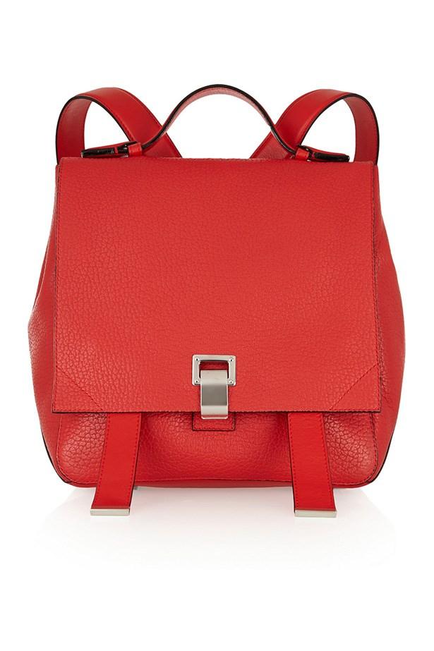 "Backpack, $2069, Proenza Schouler, <a href=""http://www.net-a-porter.com/au/en/product/503780"">net-a-porter.com</a>"