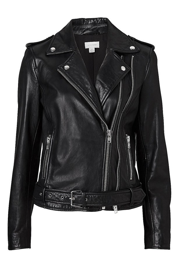 "Jacket, $599.95, Witchery, <a href=""http://www.witchery.com.au/shop/new-in/woman/clothing/60177293/Double-Zip-Biker.html"">witchery.com.au</a>"