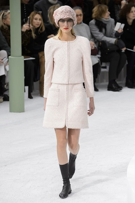 "<strong>Natalie Reeves, chief sub-editor</strong> <br /> <br /> ""This sugar-sweet skirt suit would see me through until my senior years. I'll just add a shih tzu on a leash and a swipe of mauve lippie."" <em>Chanel couture, spring 15 </em>"