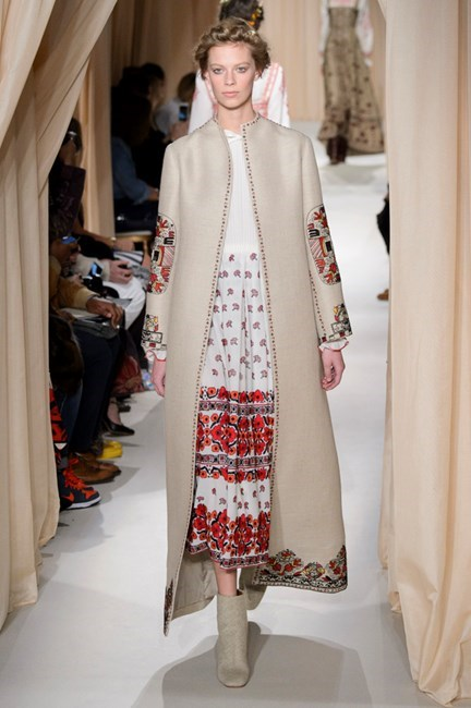 "<strong>Michelle Jackson, photo editor</strong> <br /> <br /> ""I love the luxe bohemian feeling of these pieces. The outfit gives me wonderfully nostalgic Talitha Getty vibes."" <em>Valentino couture, spring 15</em>"