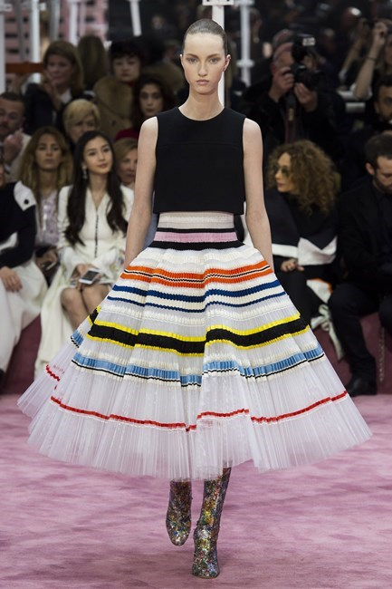 "<strong>Sarah Birnbauer, associate art director</strong> <br /> <br /> ""Raf, if you're reading this, I'll take this look in either colour way, thanks. Stunning"" <em>Christian Dior couture, spring 15 </em>"