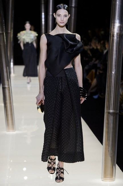 "<strong>Dee Jenner, style editor</strong> <br /> <br /> ""For a lifelong commitment, I'm keeping it classic and black"" <em>Giorgio Armani Privé couture, spring 15 </em>"