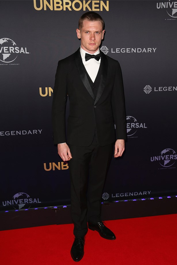 """Jack O'Connell at the World Premiere of """"Unbroken"""", November 2014."""