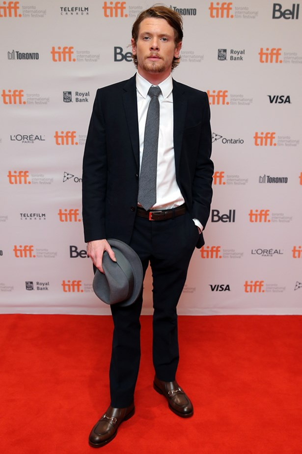 """Jack O'Connell at the Premiere of """"71"""" at the 2014 Toronto International Film Festival."""