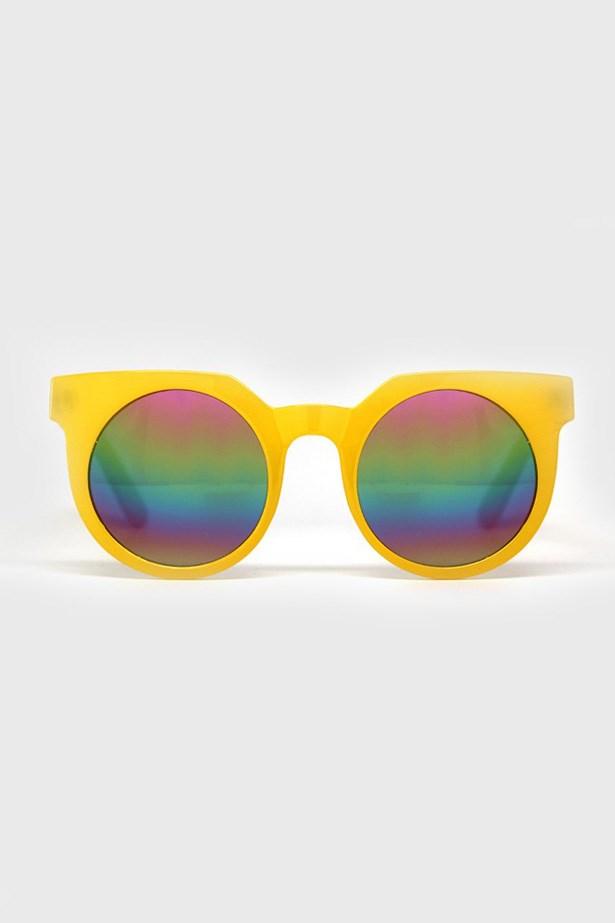 """Sunglasses, $45, Quay Eyewear, <a href=""""http://www.quayaustralia.com/shop/5-frankie.html#/colours-yellow """">quayaustralia.com</a>"""