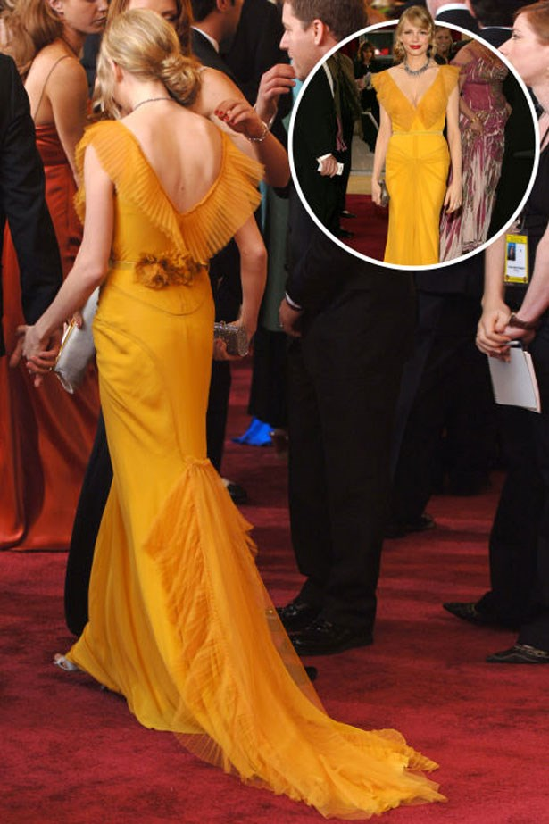 <p>MICHELLE WILLIAMS</p> <p>In Vera Wang at the 2006 Academy Awards</p>