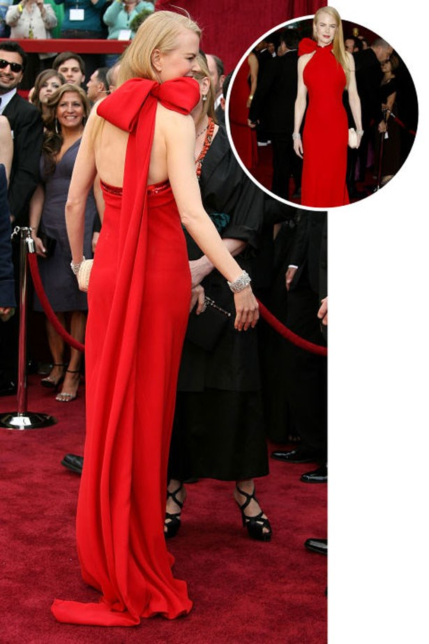 <p>NICOLE KIDMAN</p> <p>In Balenciaga at the 2007 Academy Awards</p>