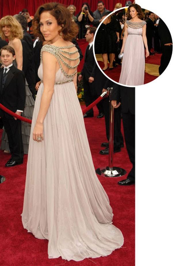 <p>JENNIFER LOPEZ</p> <p>In Marchesa at the 2007 Academy Awards</p>