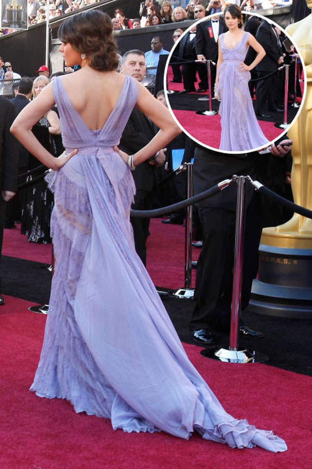 <p>MILA KUNIS</p> <p>In Elie Saab at the 2011 Academy Awards</p>