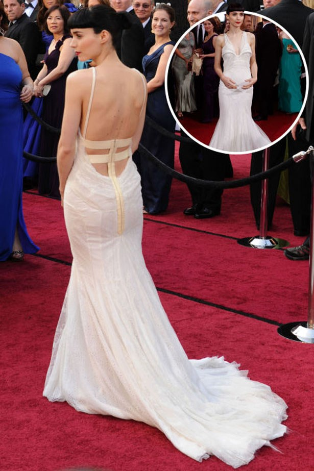 <p>ROONEY MARA</p> <p>In Givenchy at the 2012 Academy Awards</p>