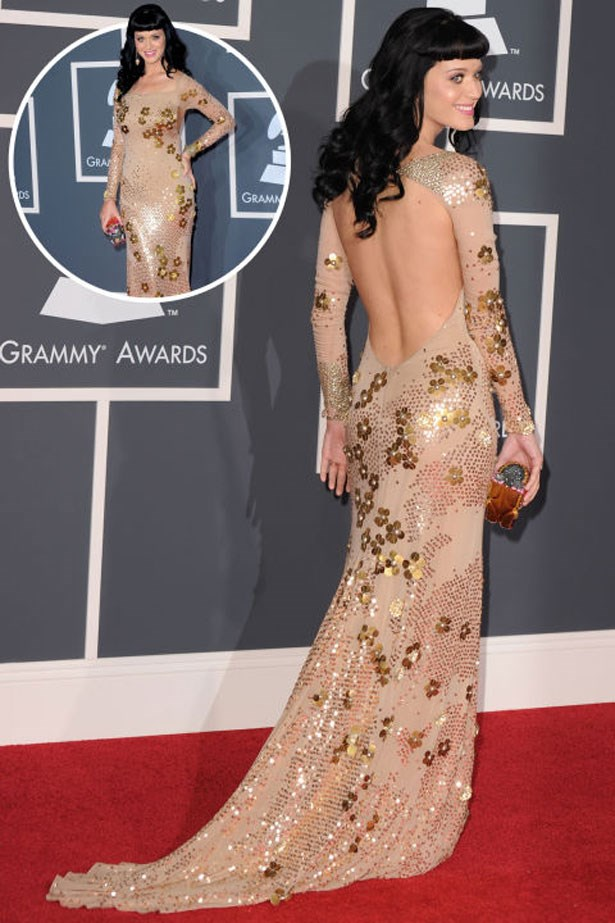 <p>KATY PERRY</p> <p>In Zac Posen at the 2010 Grammys</p>