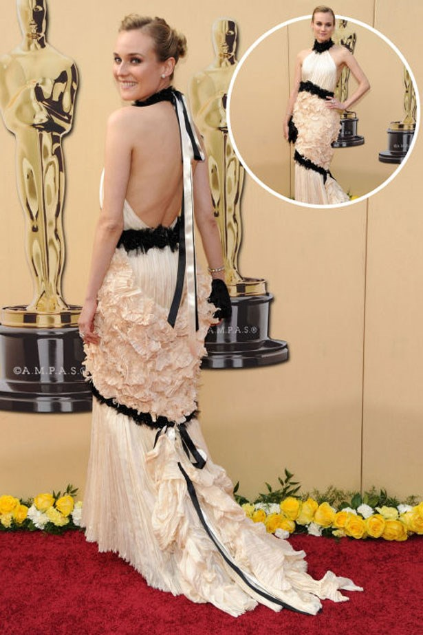 <p>DIANE KRUGER</p> <p>In Chanel at the 2010 Academy Awards</p>