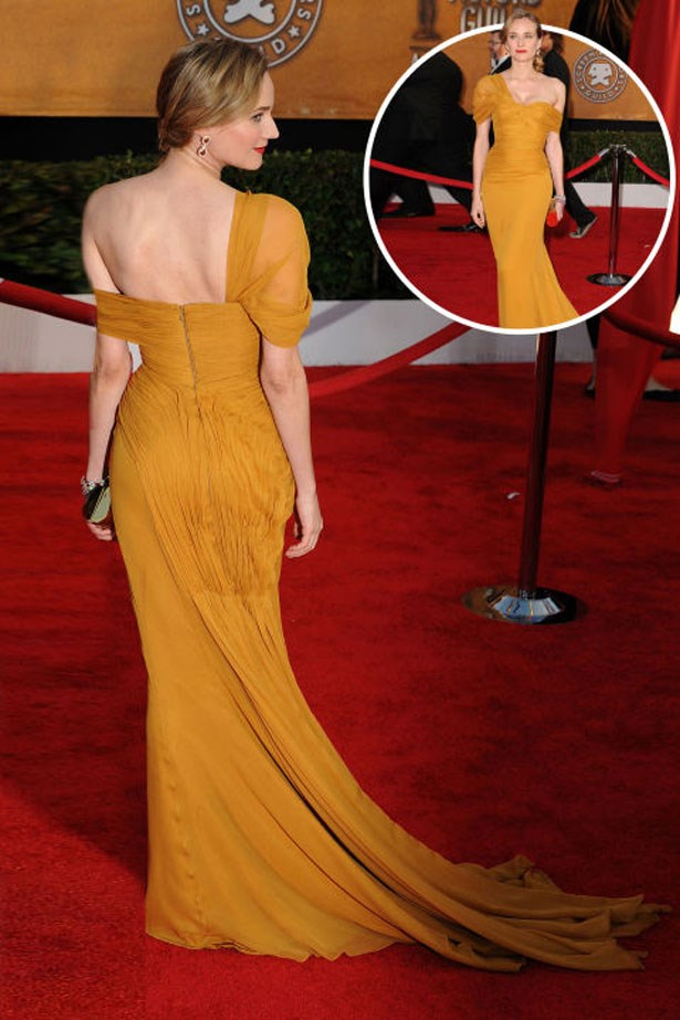 <p>DIANE KRUGER</p> <p>In Jason Wu at the 2010 Screen Actors Guild Awards</p>